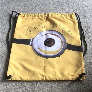 Universal Studios minion drawstring bag